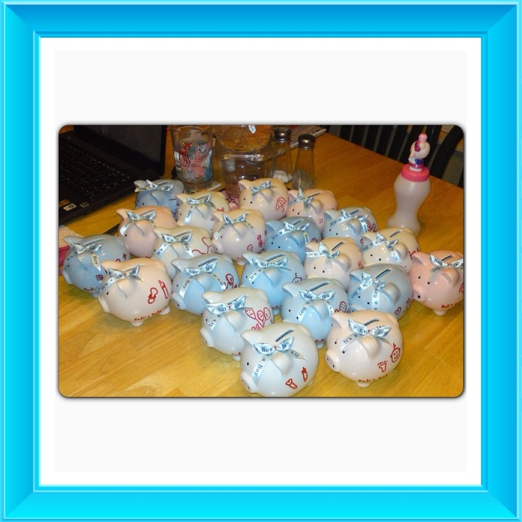 Baby Shower Favors At Dollar Tree ~ Baby shower favor i bought this little piggy banks from