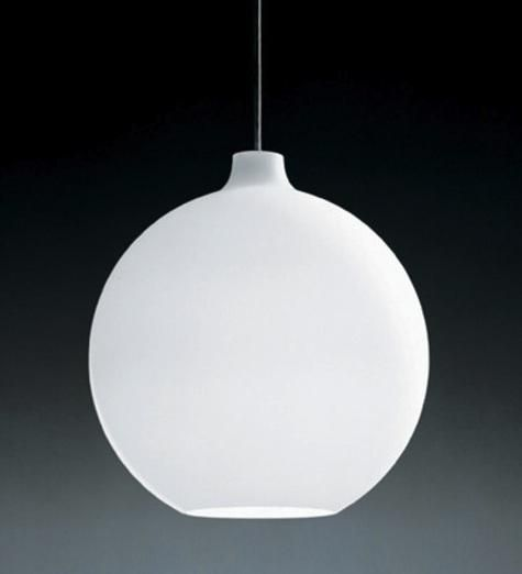 10 easy pieces white globe pendant lights by