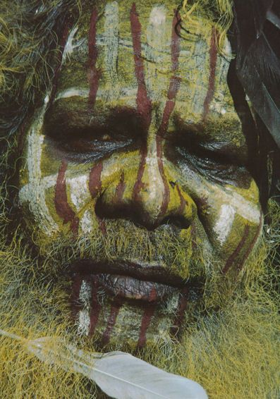 Aboriginal (Tiwi man) face painting
