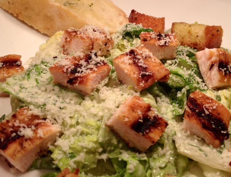 Grilled Caesar Salad with Homemade Croutons and Dressing