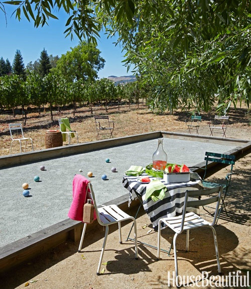 backyard bocce (in a vineyard)  Home & Garden  Pinterest