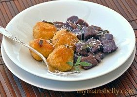 Golden Beet Gnudi and Purple Sweet Potato Gnocchi