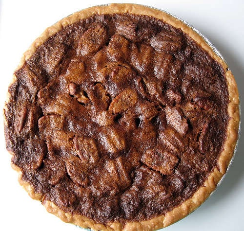 Quick and easy pecan pie! (It's best served warm with ice cream or ...