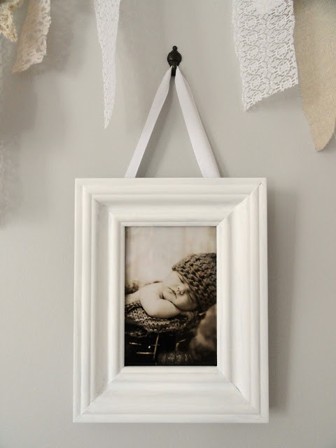 Ribbon hanging picture frame For the Home Pinterest