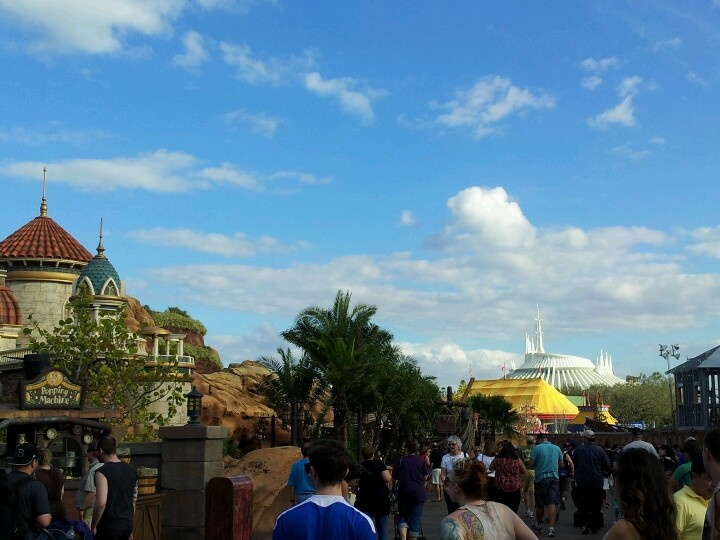 Magic Kingdom's New Fantasyland with Space Mountain off in the Distance.
