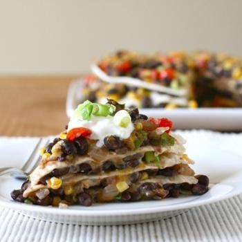 Tortilla and Black Bean Pie | FOOD yum yum | Pinterest