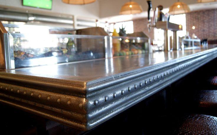 zinc bar top custom design commercial interiors pinterest. Black Bedroom Furniture Sets. Home Design Ideas