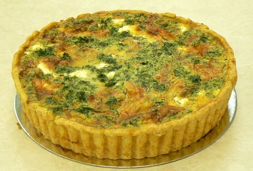 Spinach & feta quiche | Gluttony, a great sin | Pinterest
