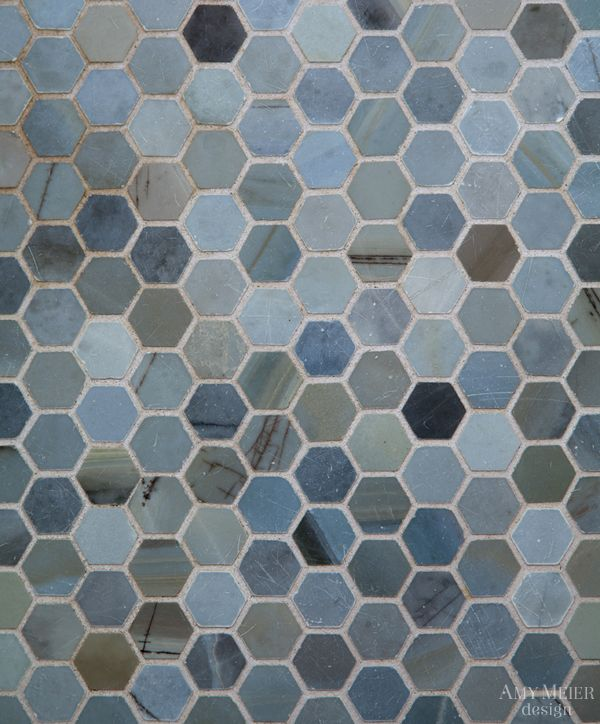 Blue Hexagon Tile Floor Potty Time Pinterest
