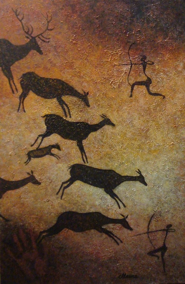 Man Cave Paintings : Man cave art after levant caves pinterest