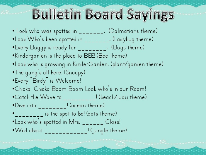 Work Quotes For Bulletin Boards. QuotesGram