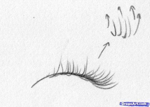 Как правильно рисовать карандашом ресницы