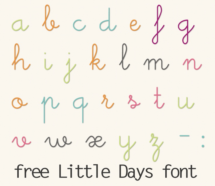 Free Cute Cursive Font Digital Scrapbooking Pinterest