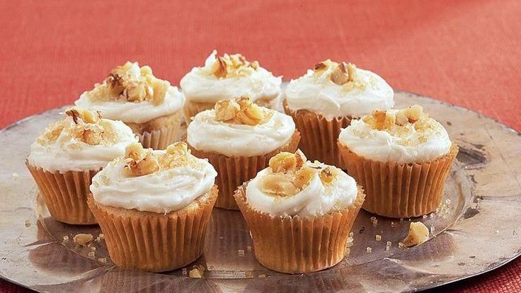 Maple-Walnut Mini Cupcakes | Recipe