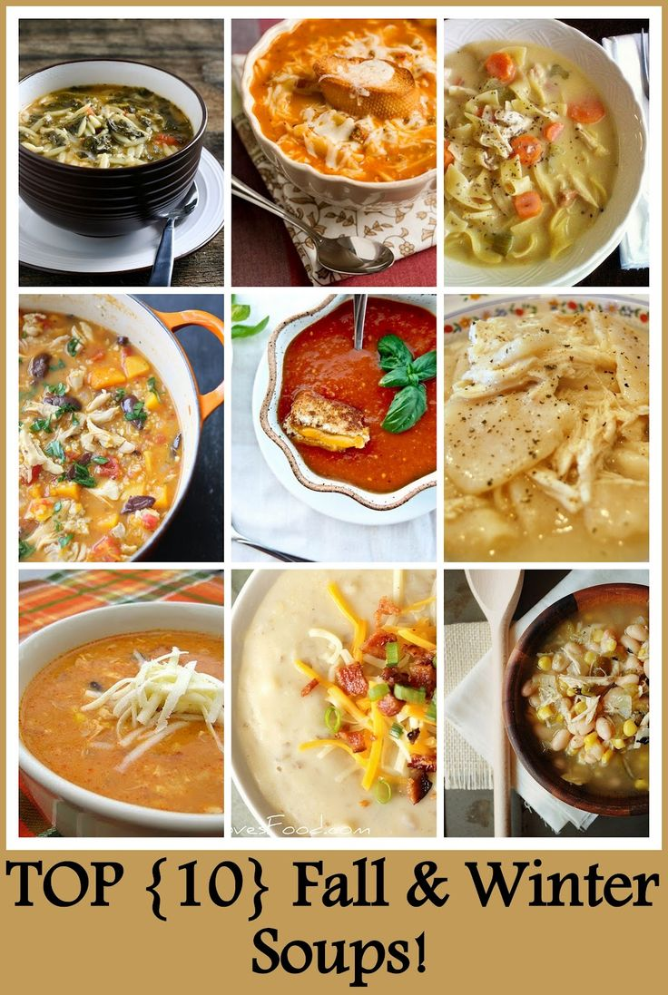Top 10 Fall & Winter Soups for the crockpot slow cooker recipes #fallcooking #fallessentials