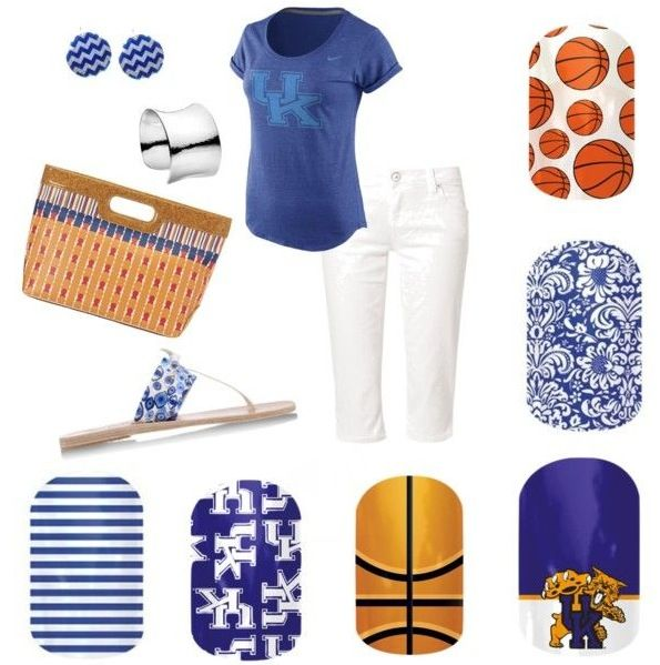 Get ready for UK game day! UK jamberry nail wraps! #UK #jamberry