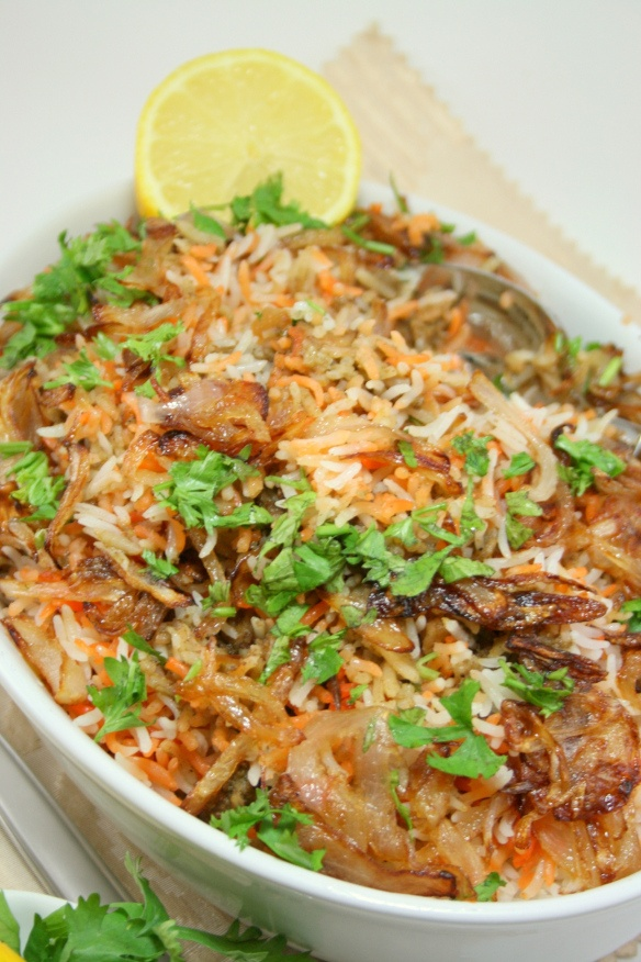 prawns biryani/ special rice with baby shrimp