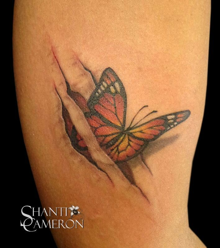 butterfly through ripped skin tattoo tattoos pinterest. Black Bedroom Furniture Sets. Home Design Ideas
