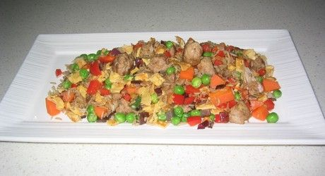 Classic fried rice with minced pork | Pork recipes | Pinterest