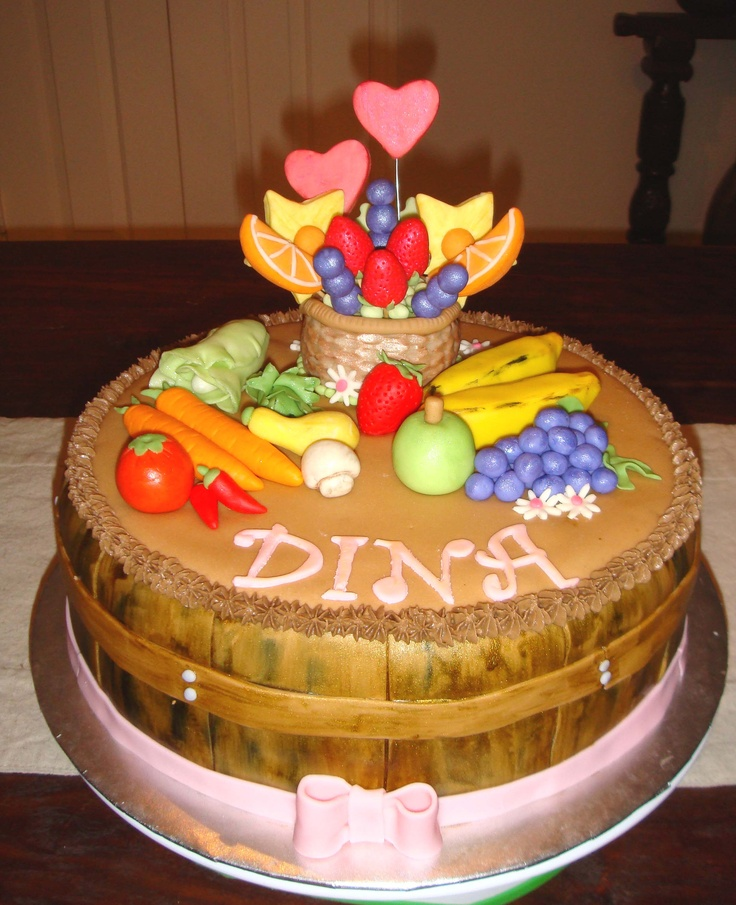 Fruits and Vegetables cake