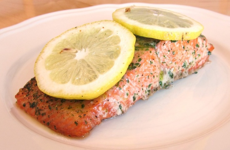 Baked Salmon with Lemon Slices - 100.9KB