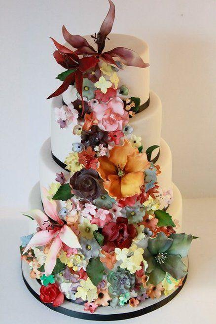 Cake Decorating Sugarpaste Flowers : All Sugar Paste Flowers ~ Wedding Cake Cakes ~ Highly ...
