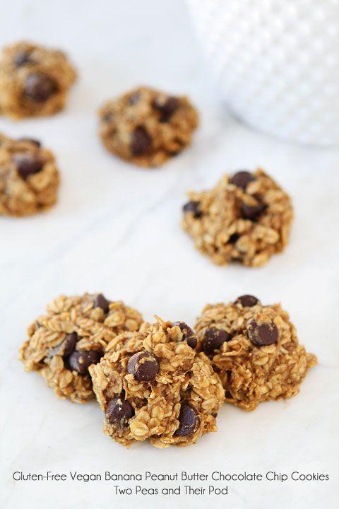 Gluten-Free Vegan Banana Peanut Butter Chocolate Chip Cookie Recipe on ...