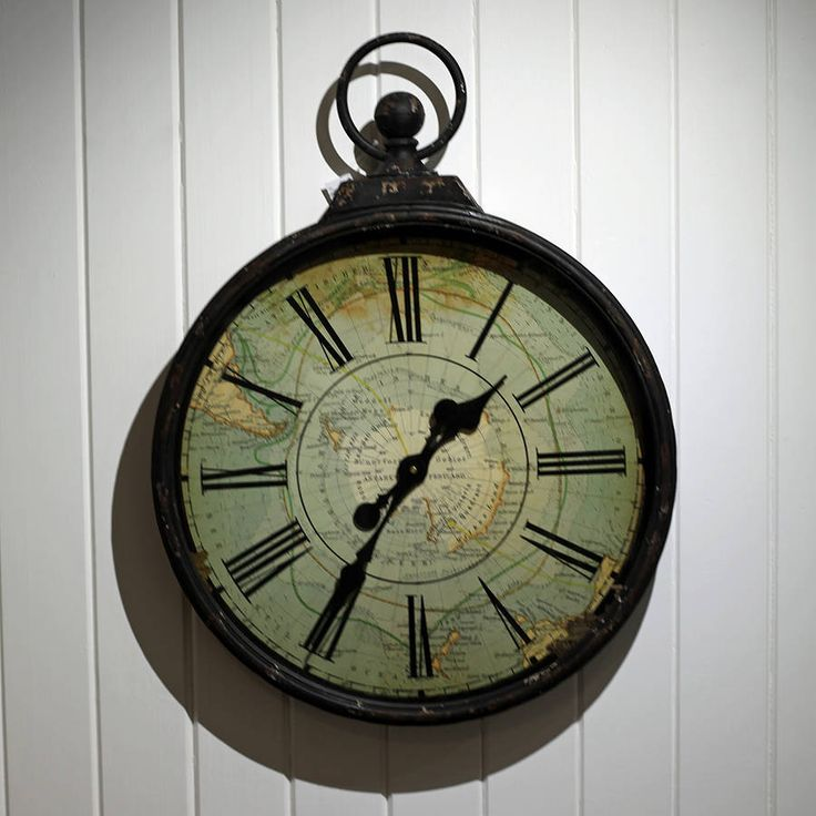Antique Style Pocket Watch Large Wall Clock