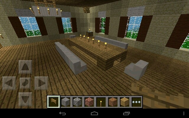 Minecraft dining table minecraft ideas pinterest for Dining room designs minecraft