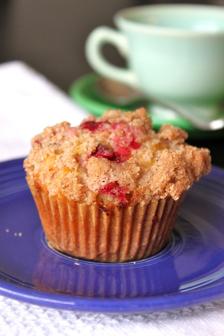 Orange Cranberry Muffins ~ Baked Perfection...panera has these and I'm ...