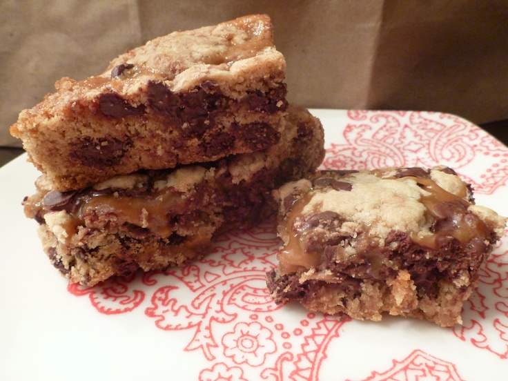Salted Caramel Chocolate Chip Cookie Bars, my BF LOVED them and so did ...