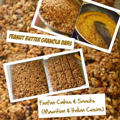 Peanut Butter Granola Snack Cake Recipe — Dishmaps