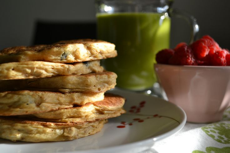 Stack 'Em High: Whole Grain Pancakes with Dried Blueberries, Ginger ...