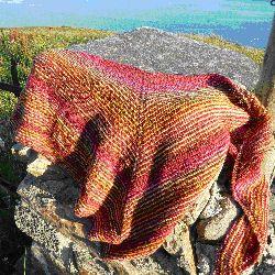 Kleurrijke ribbelsjaal