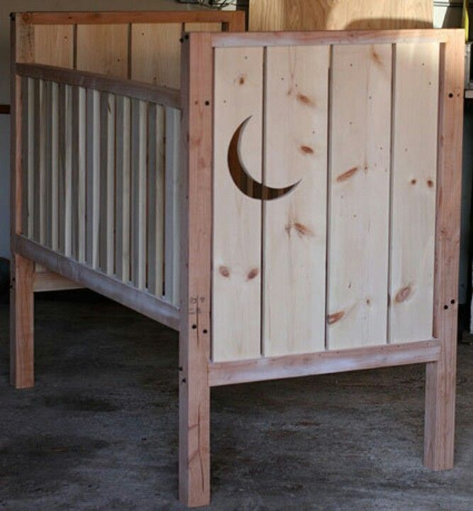 Homemade crib love it pregnancy and beyond for Diy baby furniture