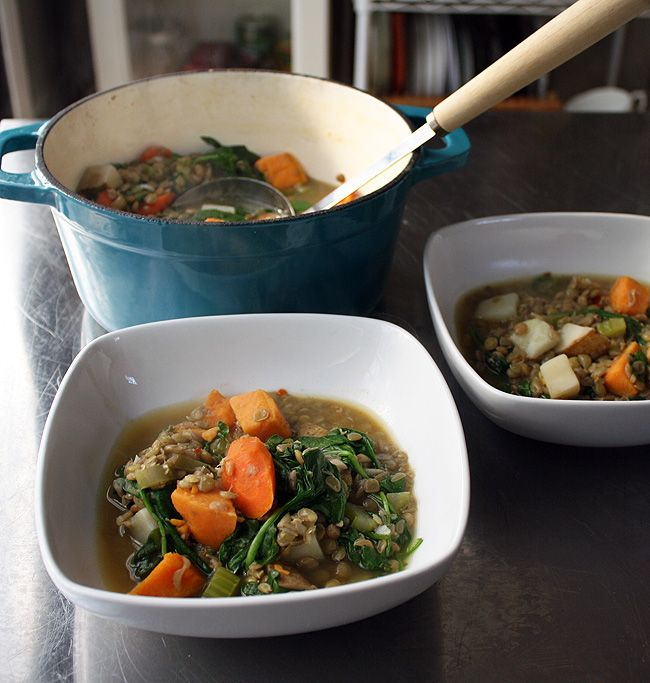 Lentil Stew with Spinach and Potatoe | treats | Pinterest