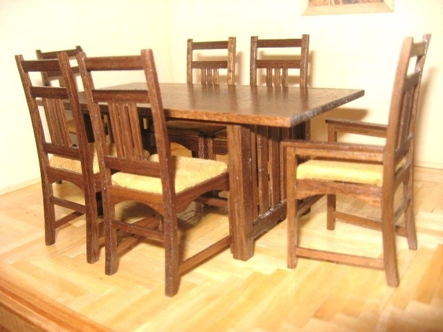 ellis mission style dining room table and chair set by minibuilder