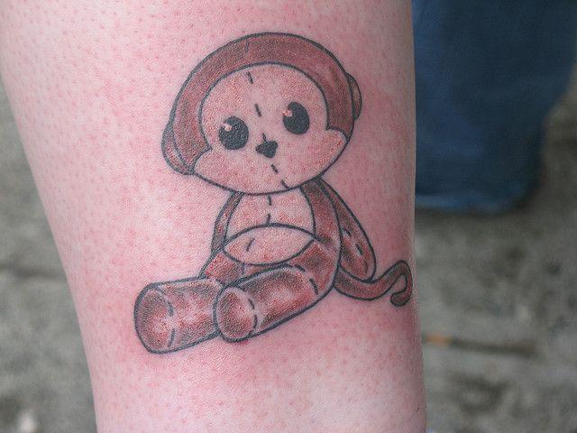 Monkey tattoos baby monkey tattoo 1 for Baby monkey tattoos