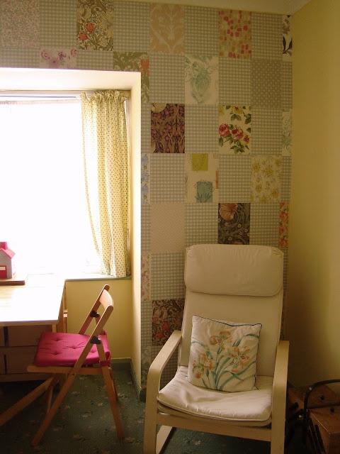 Patchwork walls {Remembering the days} at {Aqeela's House}
