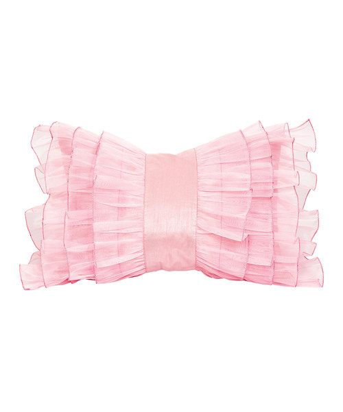 Look what i found on zulily pink ruffle pillow by jubilee collection