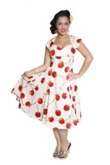 Flared Dresses Cherry Regina Doll Cherry Stem