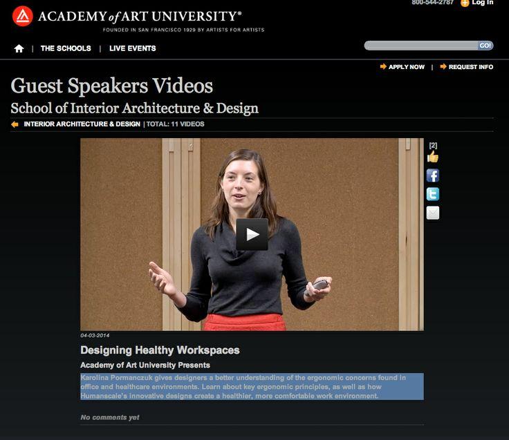 Academy of Art University Presents Karolina Pormanczuk on Designing Healthy Workspaces