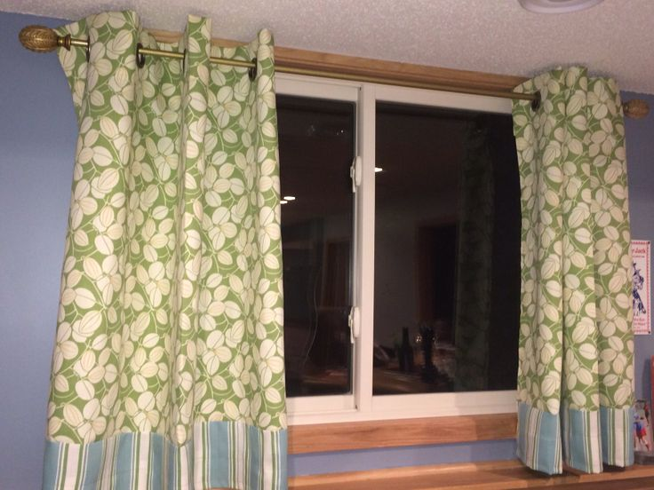 cute dual pattern curtains i made for my basement window abbs0399