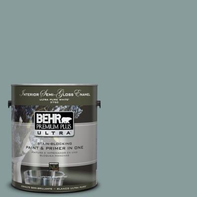 behr premium plus ultra paint 1 gal ppu12 4 agave semi gloss. Black Bedroom Furniture Sets. Home Design Ideas