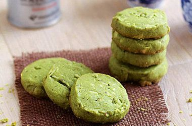 Matcha Almond Cookies | Food | Pinterest