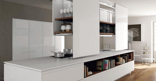 Cucina Con Isola : Cucina isola con libri kitchen