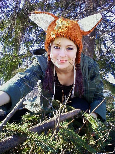 Knit a fox hat. (I might make mine green and call it a Yoda hat.)