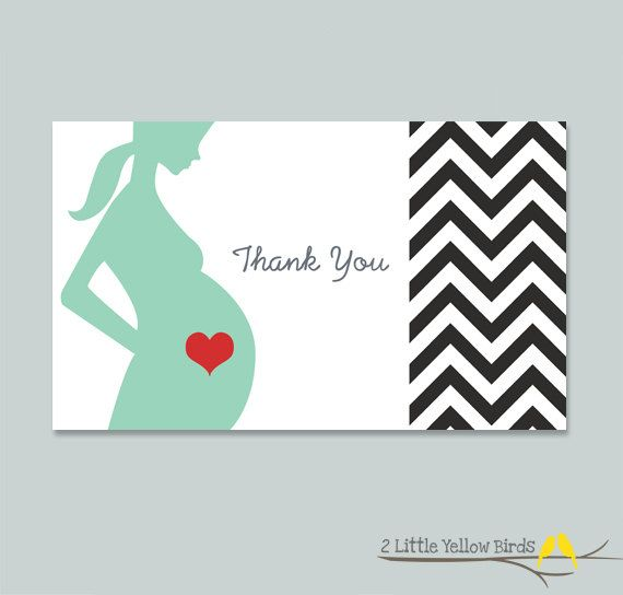 baby shower thank you cards chevron by 2littleyellowbirds on etsy 10
