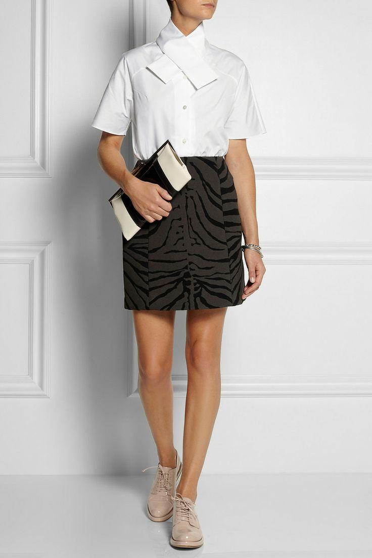 Zebra Print Mini Skirt 96