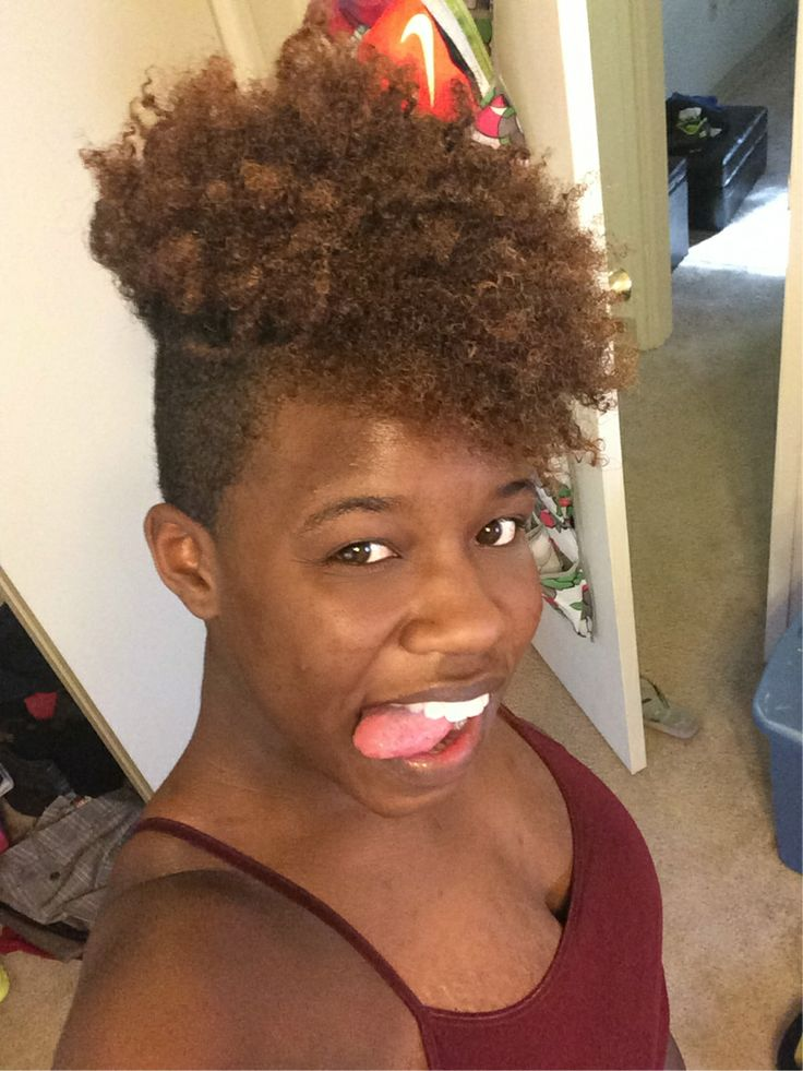 Crochet Hair Shaved Sides : ... Crochet Mohawk Hairstyles also Sew In Curly Hair With Shaved Sides and